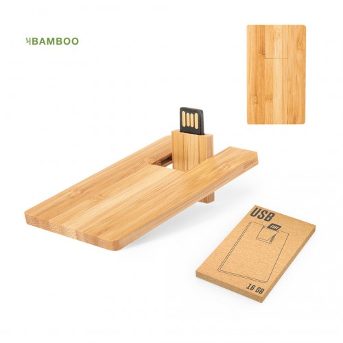 MEMORIA USB BAMBU 16GB STOCK
