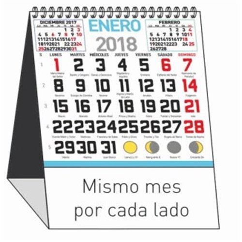 CALENDARIO SOBREMESA mini MENSUAL 12 HOJAS