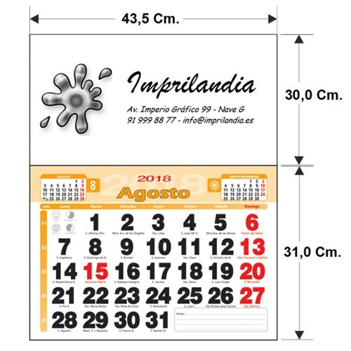 CALENDARIO PARED MENSUAL